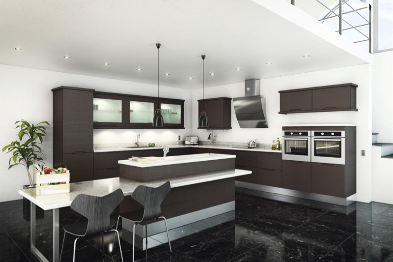 Delightful Brentford Melinga Oak Kitchen