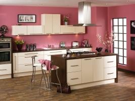 Duleek high gloss cream kitchen