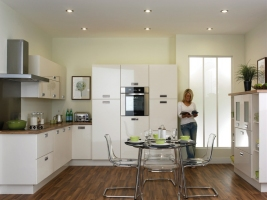 Duleek high gloss ivory kitchen