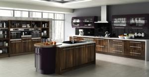 Duleek high gloss tiepolo burgundy kitchen
