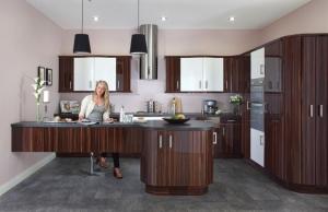 Duleek high gloss zebrano white kitchen