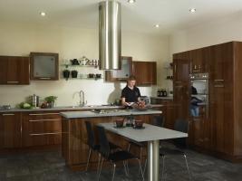 Mona high gloss walnut kitchen