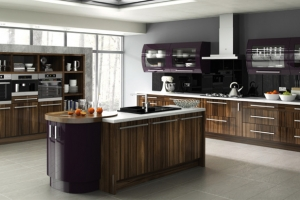 Duleek high gloss tiepolo burgundy kitchen