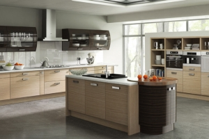 Duleek troscan oak high gloss ebony kitchen