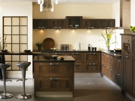 Tuscany dark walnut kitchen