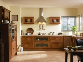 Tuscany medium walnut kitchen