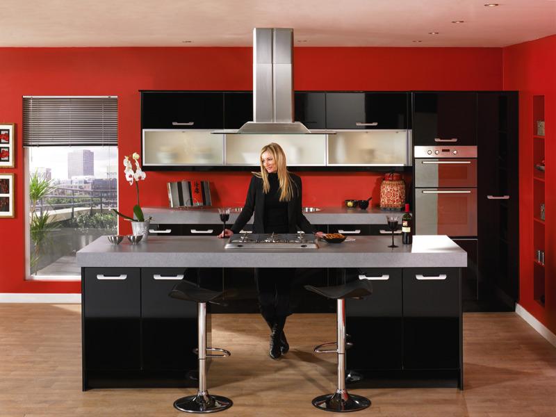 Duleek high gloss black kitchen