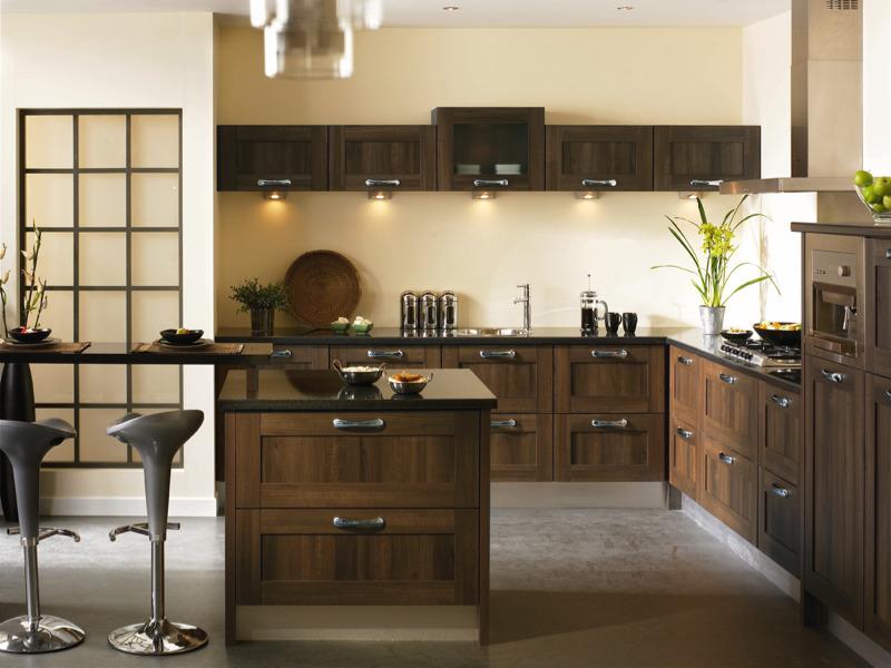 Tuscany dark walnut kitchen