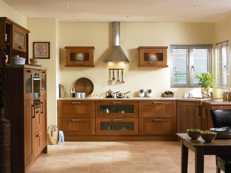Tuscany medium walnut kitchen