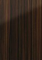 PVC edged high gloss macassar