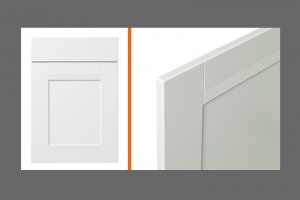 Ribbed kitchen door style